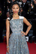 "Zoe Saldana attends ""Blood Ties"" Red Carpet  during the 66th Annual Cannes Film Festival at the Palais des Festivals on May 20, 2013 in Cannes, France.."
