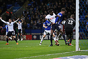Bolton players appeal that (10) Sammy Ameobi for Bolton Wanderers is fouled in the box  during the EFL Sky Bet Championship match between Bolton Wanderers and Birmingham City at the Macron Stadium, Bolton, England on 3 April 2018. Picture by Graham Holt.