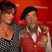NLD/Amsterdam/20200307 - Boekenbal 2020, Ilja Gort en partner Caroline d'Hollosy