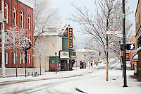 Orpheum Theater / Downtown Flagstaff in Winter, Arizona