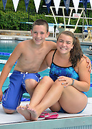 Two hot racers on the Pocantico Hills Swim Team
