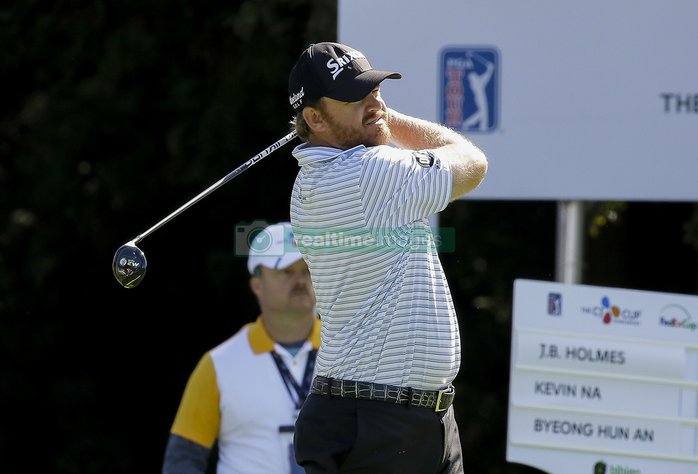 October 20, 2017 - Seogwipo, Jeju Island, South Korea - J.B. Holmes of USA action on the 1th tee during an PGA TOUR THE CJ CUP NINE BRIDGE DAY 2 at Nine Bridge CC in Jeju Island, South Korea. (Credit Image: © Ryu Seung Il via ZUMA Wire)