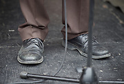 Jeremy Corbyn, leader of the Labour Party speaks at The People's Assembly - Not One Day More -  National Demonstration Parliament Square, London, Great Britain <br /> 1st July 2017 <br /> <br /> Jeremy Corbyn 's shoes <br /> <br /> <br /> Photograph by Elliott Franks <br /> Image licensed to Elliott Franks Photography Services