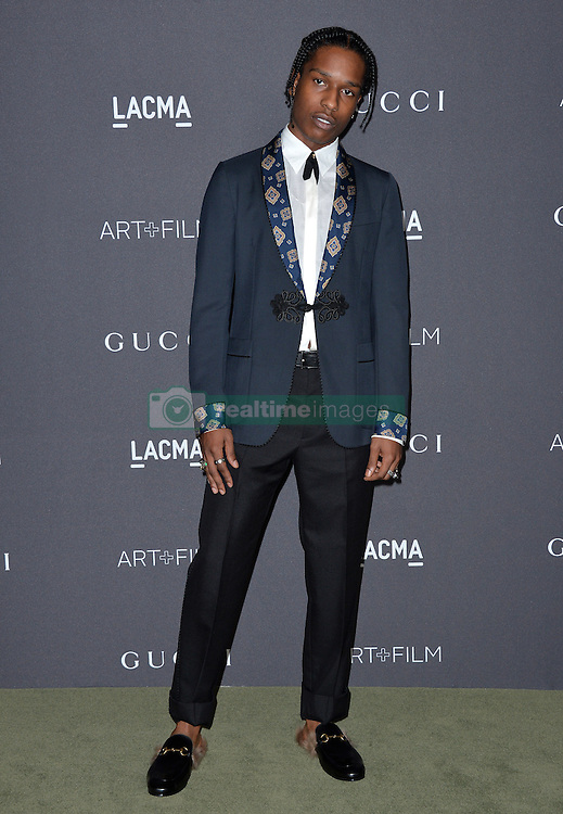 ASAP Rocky attends the 2016 LACMA Art + Film Gala honoring Robert Irwin and Kathryn Bigelow presented by Gucci at LACMA on October 29, 2016 in Los Angeles, California. Photo by Lionel Hahn/AbacaUsa.com