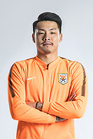 **EXCLUSIVE**Portrait of Chinese soccer player Wang Dalei of Shandong Luneng Taishan F.C. for the 2018 Chinese Football Association Super League, in Ji'nan city, east China's Shandong province, 24 February 2018.