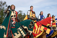 Medieval Times Knights in Shining Armor Equestian Unit at the 2008 Tournament of Roses Parade, Pasadena, California