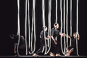 &copy; Tony Nandi. 27/10/2015. Gravity Fatigue is a major new Sadler&rsquo;s Wells production, directed and designed by Hussein Chalayan working with choreographer Damien Jalet.<br />  In his first theatrical work, Chalayan combines the visual creativity of his designs and concepts with contemporary dance to bring to life a transformational imaginary world.<br /> Photo credit: Tony Nandi
