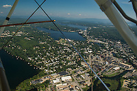 Aerial view of the City of Laconia, New Hampshire