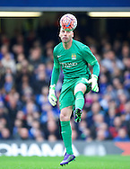 Goalkeeper Wilfredo Caballero during the FA Cup match at Stamford Bridge, London<br /> Picture by Alan Stanford/Focus Images Ltd +44 7915 056117<br /> 21/02/2016