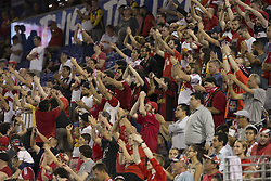 September 27, 2017 - Harrison, New Jersey, United States - Red Bulls fans support their team during regular MLS game against DC United at Red Bull Arena Game ended in draw 3 - 3  (Credit Image: © Lev Radin/Pacific Press via ZUMA Wire)