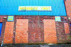 A general view of the rear of the derelict Bishop Street stand at the One Call Stadium, home to Mansfield Town - Mandatory by-line: Ryan Crockett/JMP - 23/03/2019 - FOOTBALL - One Call Stadium - Mansfield, England - Mansfield Town v Crewe Alexandra - Sky Bet League Two
