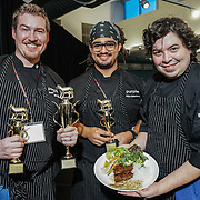 American Lamb Board Global Flavors Lamb Tour: Lamb Jam Seattle. Overall Winner - Purple Cafe & Wine Bar. Chef Brett Teegardin. Vietnames sticky lamb belly with scallion pancakes.