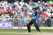 Worcestershire's Brett D'Oliveira  during the Royal London 1 Day Cup match between Lancashire County Cricket Club and Worcestershire County Cricket Club at the Emirates, Old Trafford, Manchester, United Kingdom on 17 April 2019.