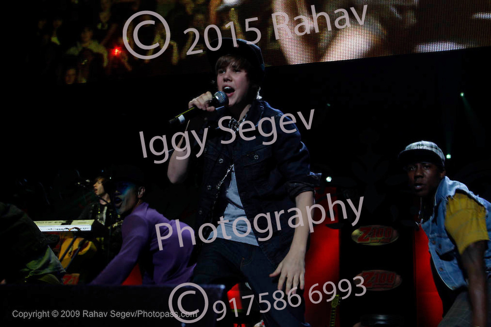 Justin Bieber performing during Jingle Ball 2009 on December 12, 2009 at Madison Square Garden. ..