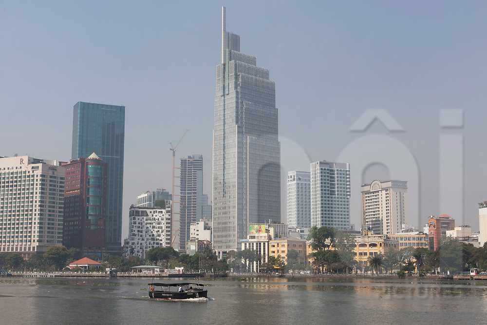 Vietcombank Tower seen from across the Saigon River, Ho Chi Minh City, Vietnam, Southeast Asia