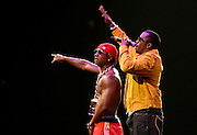 "Rappers Sean ""Diddy"" Combs and Yung Joc perform as part of the Screamfest 2007 tour stop at Madison Square Garden on Wednesday, August 22, 2007 in New York."
