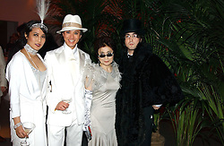 Left to right, ANDY & PATTI WONG, YOKO ONO and SEAN LENNON at Andy & Patti Wong's Chinese New Year party to celebrate the year of the Rooster held at the Great Eastern Hotel, Liverpool Street, London on 29th January 2005.  Guests were invited to dress in 1920's Shanghai fashion.<br />