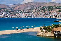 Albanie, province de Vlore, ville balneaire de Saranda // Albania, Vlore province, Saranda city
