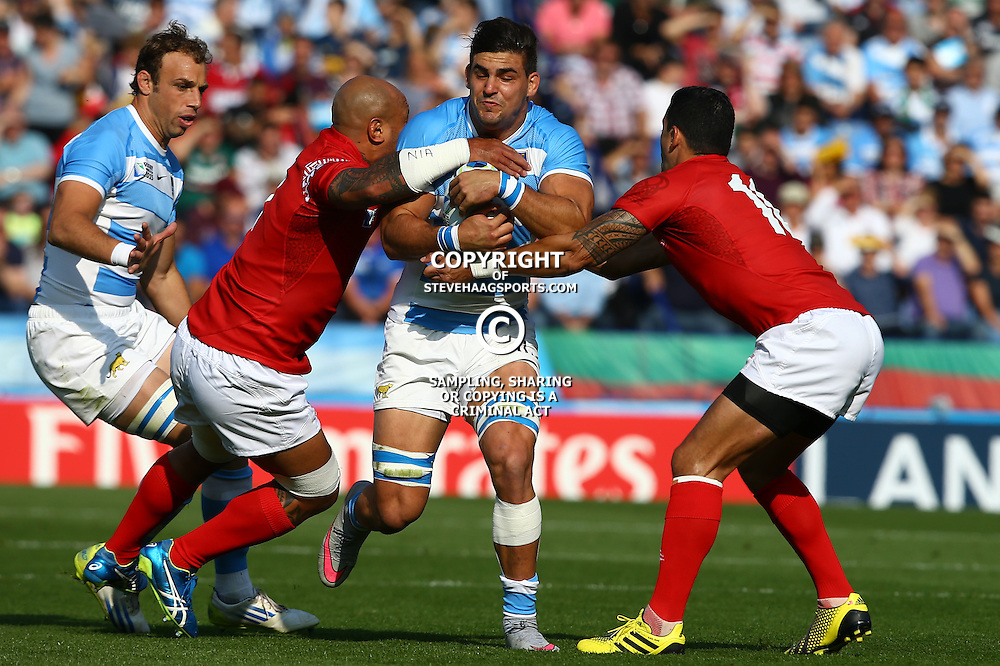 LEICESTER, ENGLAND - OCTOBER 04: Pablo Matera of Argentina during the Rugby World Cup 2015 Pool C match between Argentina and Tonga at Leicester City Stadium on October 04, 2015 in Leicester, England. (Photo by Steve Haag/Gallo Images)