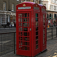 Red telephone booth, London, England