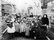 Children in a Nazi extermination camp in Eastern Europe  circa 1945.