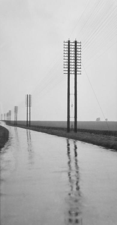 Telegraph Poles, Lincoln, Lincolnshire, England, 1925