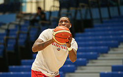 Fred Thomas of Bristol Flyers warms up - Photo mandatory by-line: Arron Gent/JMP - 28/04/2019 - BASKETBALL - Surrey Sports Park - Guildford, England - Surrey Scorchers v Bristol Flyers - British Basketball League Championship