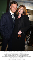 MR JOEL CADBURY and his sister MRS CHARLES FARR, at a party in London on 14th May 2003.	PJN 76