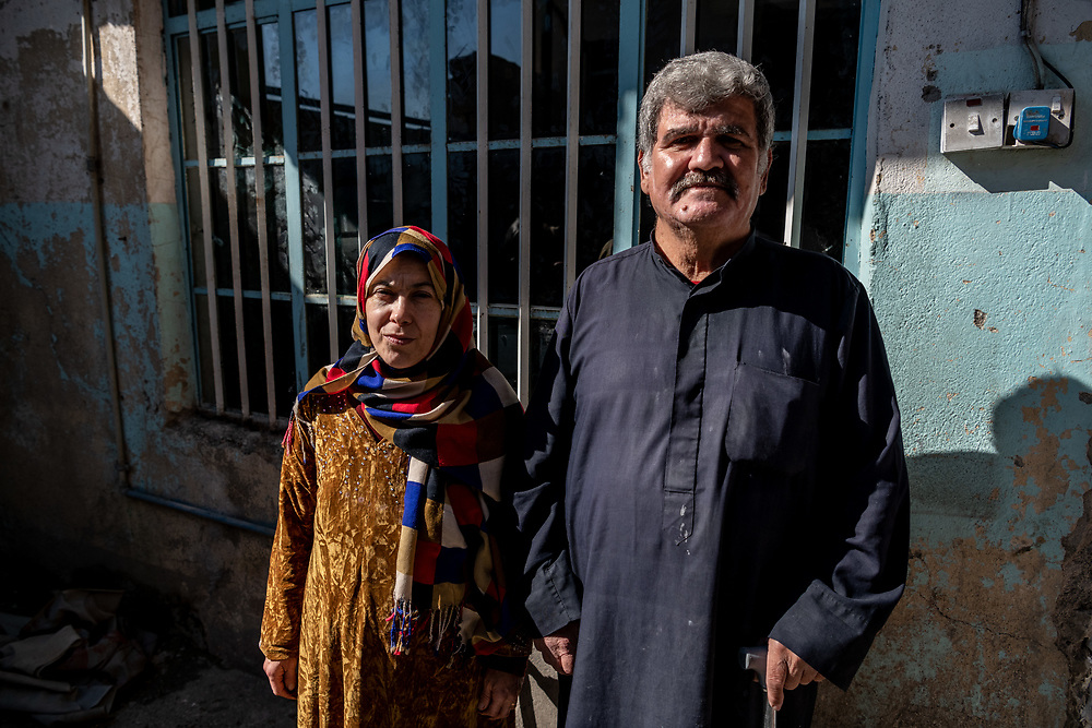 4 February 2019 – Mosul – Iraq – Entesar and Ismael are pictured inside their family home in the al-Islah al Zirahee neighbourhood of West Mosul. <br /> <br /> Work is currently underway to rehabilitate their home with the support of UNDP's Funding Facility for Stabilization (FFS), which is supporting the rehabilitation of ten thousand homes across West Mosul, helping displaced families return home. <br /> <br /> © UNDP Iraq / Claire Thomas