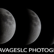 Lunar eclipse April 15, 2014.  Shot from the Wasatch Mountains.