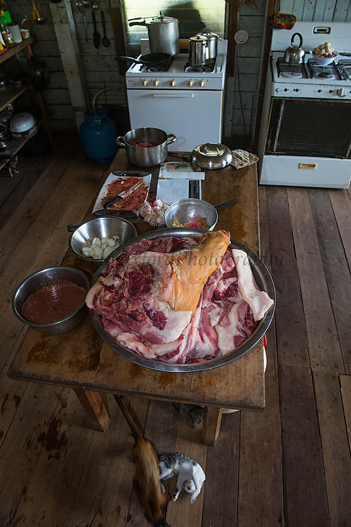 Kitchen<br /> Dadanawa Ranch<br /> Cattle Ranch<br /> Savanna <br /> South Rupununi<br /> GUYANA<br /> South America<br /> Once the largest private ranch in the world