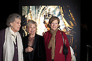 LADY MOIRA CAMPBELL; LADY RAYNE; LADY GLENCONNER, Cecil Beaton private view. V and A Museum. London. 6 February 2012