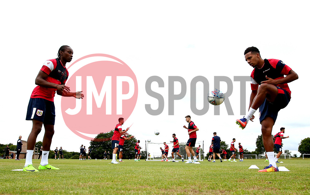 Shawn McCoulsky and Korey Smith in action as Bristol City return to training ahead of their 2017/18 Sky Bet Championship campaign - Mandatory by-line: Robbie Stephenson/JMP - 30/06/2017 - FOOTBALL - Failand Training Ground - Bristol, United Kingdom - Bristol City Pre Season Training - Sky Bet Championship