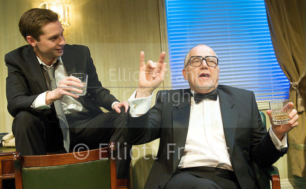 His Greatness<br /> by Daniel MacIvor<br /> inspired by the life of Tennessee Williams<br /> at The Finborough Theatre, London, Great Britain <br /> Press photocall<br /> 26th April 2012 <br /> directed by Che Walker<br /> designer Jean-Marc Puissant<br /> Lighting by Armin Friess<br /> Sound designed by Edward Lewis <br /> <br /> Russell Bentley as The Assistant<br /> <br /> Matthew Marsh as The Playwright<br /> <br /> Toby Wharton as The Young Man <br /> <br /> Photograph by Elliott Franks