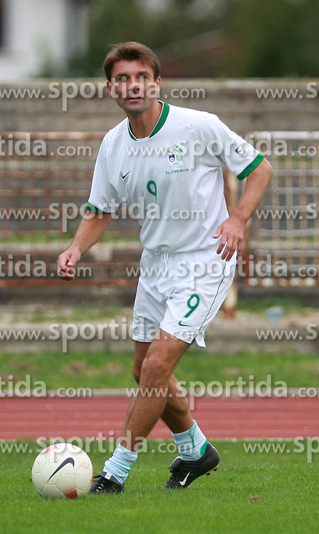 Saso Udovic at friendly football game between famous Slovenians at day of Fair play, on September 21, 2008 in Kodeljevo, Ljubljana, Slovenia. (Photo by Vid Ponikvar / Sportal Images)
