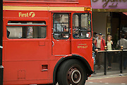 traditional double-deck bus in London