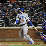 Kris Bryant, Chicago Cubs, batting during the MLB NLCS Playoffs game two, Chicago Cubs vs New York Mets at Citi Field, Queens, New York. USA. 18th October 2015. Photo Tim Clayton