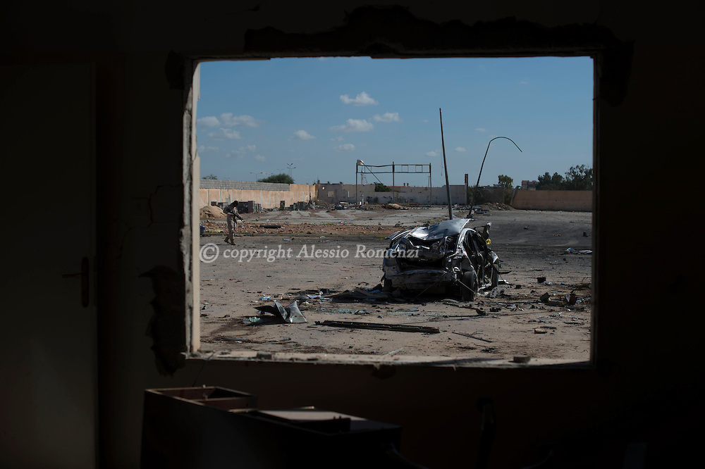 Libya, Zliten: Aftermath of the terror attack at Zliten police base that left 62 dead and almost 150 wounded. <br /> On January 7, 2016 a water tank full of explosive enter the gate of al-Jahfal training camp and exploded as recruits were training in the front yard. Alessio Romenzi