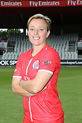 Lancashire Thunders Danielle Hazell during the media day for Lancashire Thunder at the Emirates, Old Trafford, Manchester, United Kingdom on 17 July 2018. Picture by George Franks.