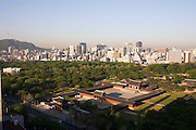 Changgyeonggung Palace, Namsan Tower (l.) and Downtown Seoul.