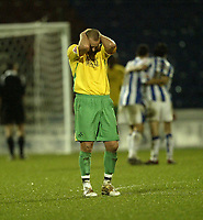 Photo: Aidan Ellis.<br /> Huddersfield Town v Swansea City. Coca Cola League 1. 30/12/2006.<br /> Swansea's Lee Trundle cant believe it as Huddersfield are awarded a last minute penalty
