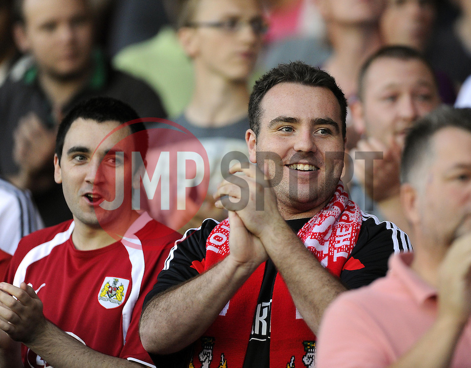Bristol city Fan  - Photo mandatory by-line: Joe Meredith/JMP - Tel: Mobile: 07966 386802 04/09/2013 - SPORT - FOOTBALL -  Ashton Gate - Bristol - Bristol City V Bristol Rovers - Johnstone Paint Trophy - First Round - Bristol Derby