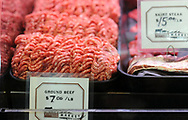 Some ground beef for sale in the market Thursday, November 16, 2017 at Wyebrook Farm in Honey Brook, Pennsylvania. The regulatory issues have forced him to close his restaurant as of November 19th. The market remain open until the end of the year and the farm will continue to sell their meats at Reading Terminal Market in Philadelphia. (WILLIAM THOMAS CAIN / For The Philadelphia Inquirer)