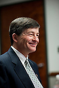 Representative Jeb Hensarling, (R-TX), speaks in Washington on February 28, 2011.