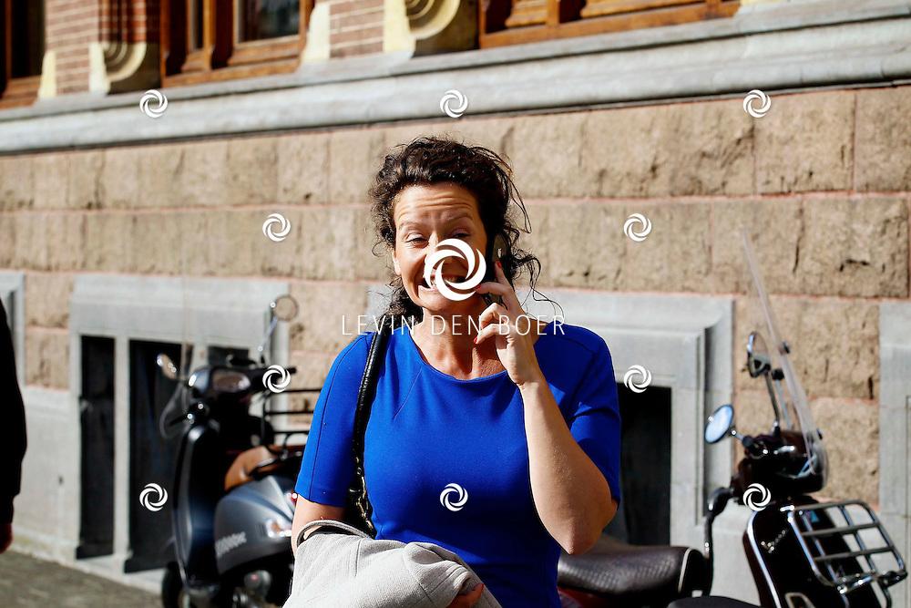 AMSTERDAM - In het Conservatorium Hotel vierde Leco Zadelhoff zijn 45ste verjaardag. Met op de foto  Femke de Veer. FOTO LEVIN DEN BOER  - PERSFOTO.NU