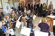Máxima bezoekt muziekproject.<br />