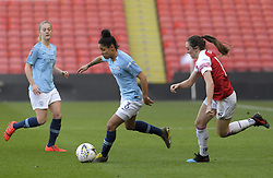 February 23, 2019 - Sheffield, England, United Kingdom - Demi Stokes (Manchester City) chased fown by Lisa Evans (Arsenal) during the  FA Women's Continental League Cup Final  between Arsenal and Manchester City Women at the Bramall Lane Football Ground, Sheffield United FC Sheffield, Saturday 23rd February. (Credit Image: © Action Foto Sport/NurPhoto via ZUMA Press)