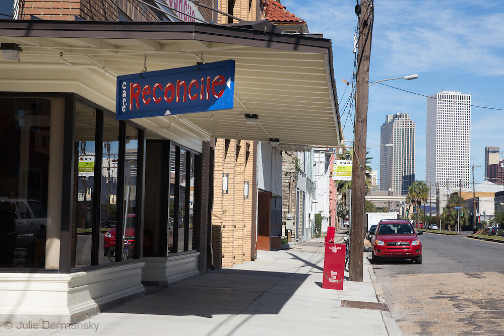 Cafe Reconcile in New Orleans is a restaurant where job training is given to impoverished communities  giving them a chance to have a career in the restaurant business