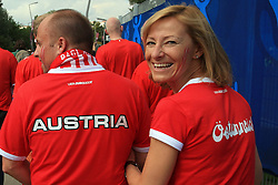 Fans of Austria coming to the game before the UEFA EURO 2008 Group B soccer match between Austria and Croatia at Ernst-Happel Stadium, on June 8,2008, in Vienna, Austria.  (Photo by Vid Ponikvar / Sportal Images)
