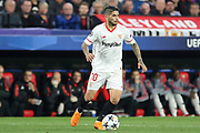 Sevilla midfielder Ever Banega (10) during the Champions League match between Sevilla and Manchester United at the Ramon Sanchez Pizjuan Stadium, Seville, Spain on 21 February 2018. Picture by Phil Duncan.